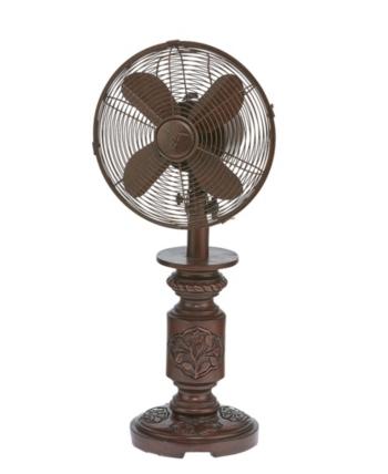 Decobreeze Mila Table Fan Brown Table Fan Deco Floor Fan