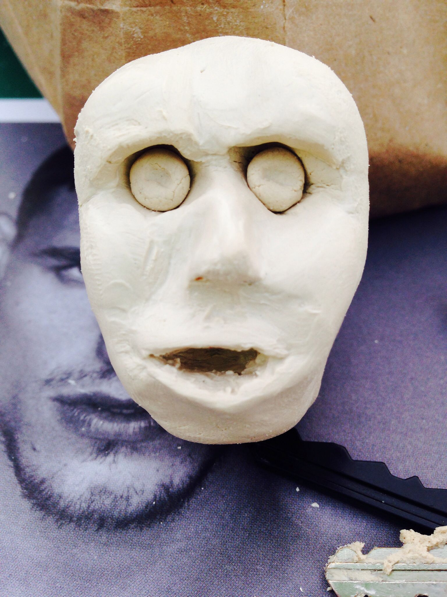 My attempt at a ceramic face, maybe next time.