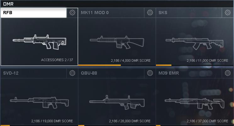 Battlefield 4 Designated Marksman Rifles