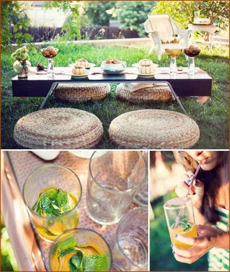 Outdoor 'pumpkin' Themed Dinner Party