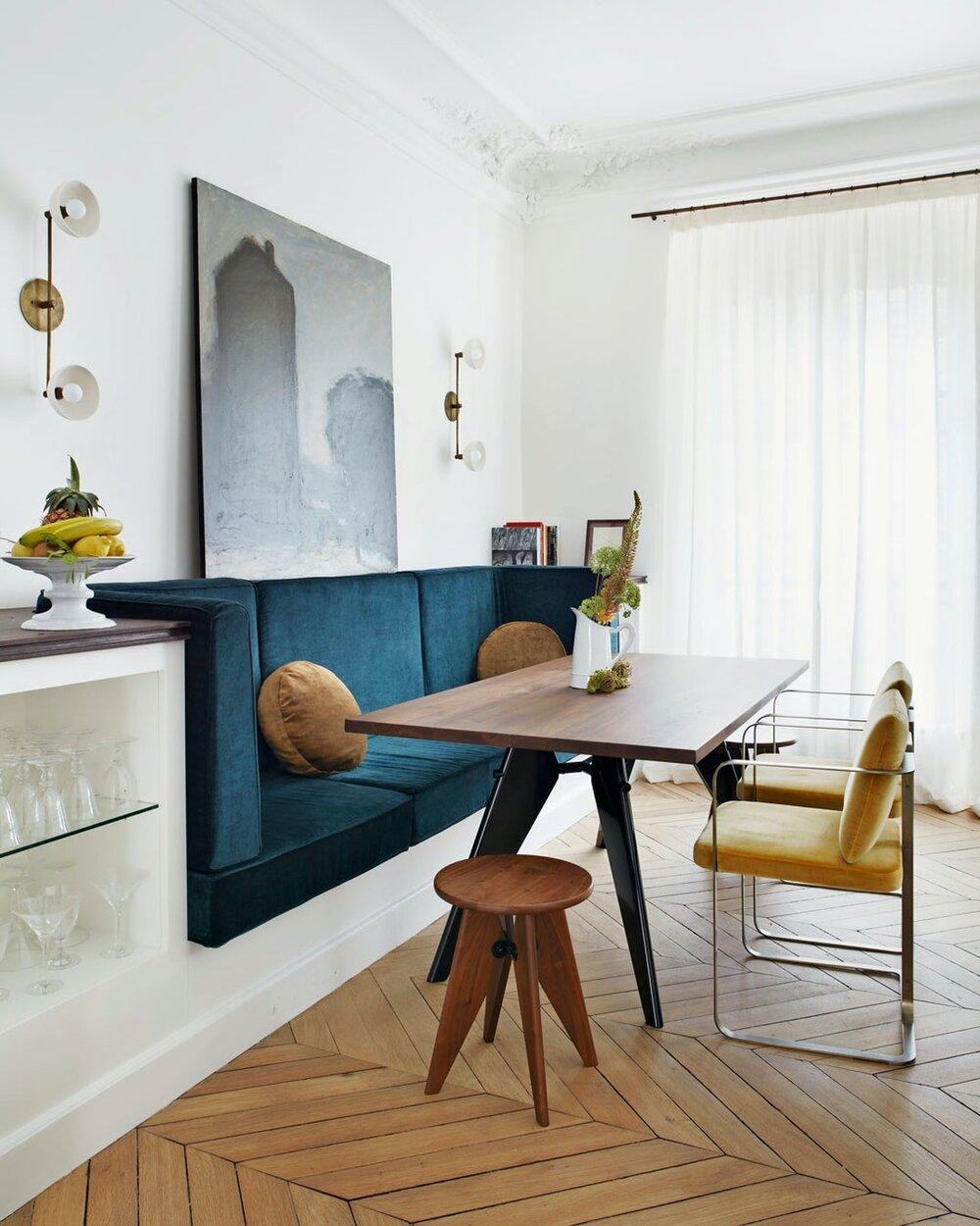Modern And Classic Design in a 19th-Century Paris Apartment