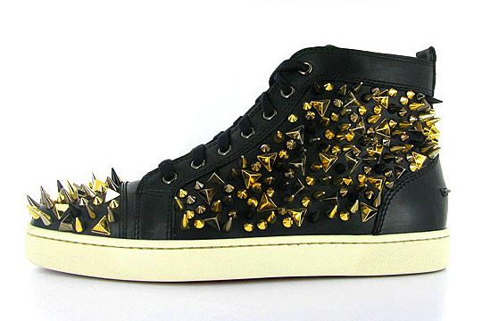 christian louboutin spiked tennis shoes