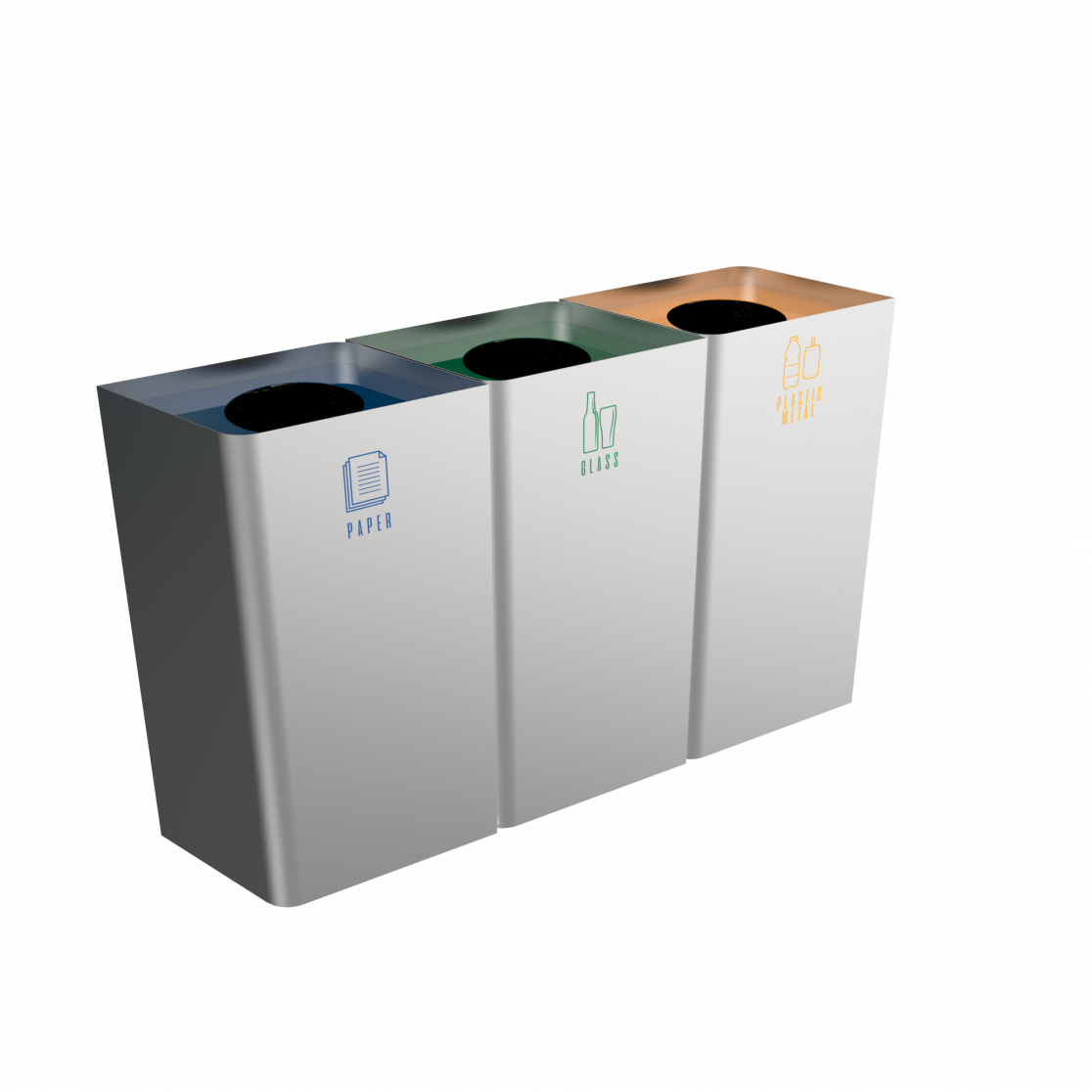 Pollux sst stainless steel recycling bins with modern design pollux sst stainless steel recycling bins with modern design dailygadgetfo Image collections