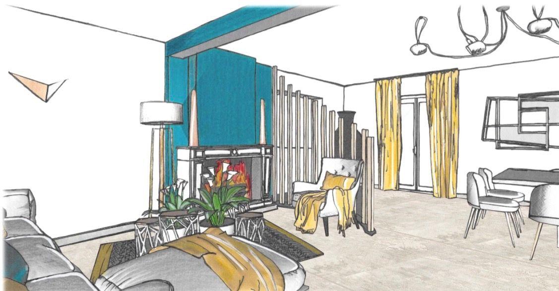 Salon Realise Par Tiffany Fayolle Architecte D Interieur Et