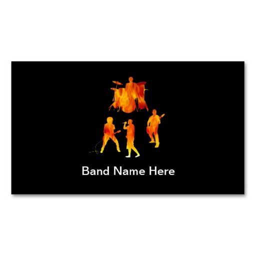 Simple rock band business cards rock bands business cards and simple rock band business cards colourmoves