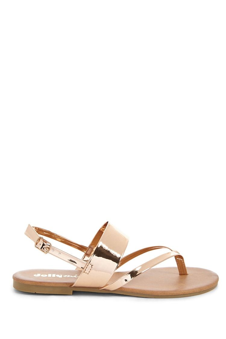 5861e4a3f Yoki Shoes Faux Patent Leather Thong Sandals