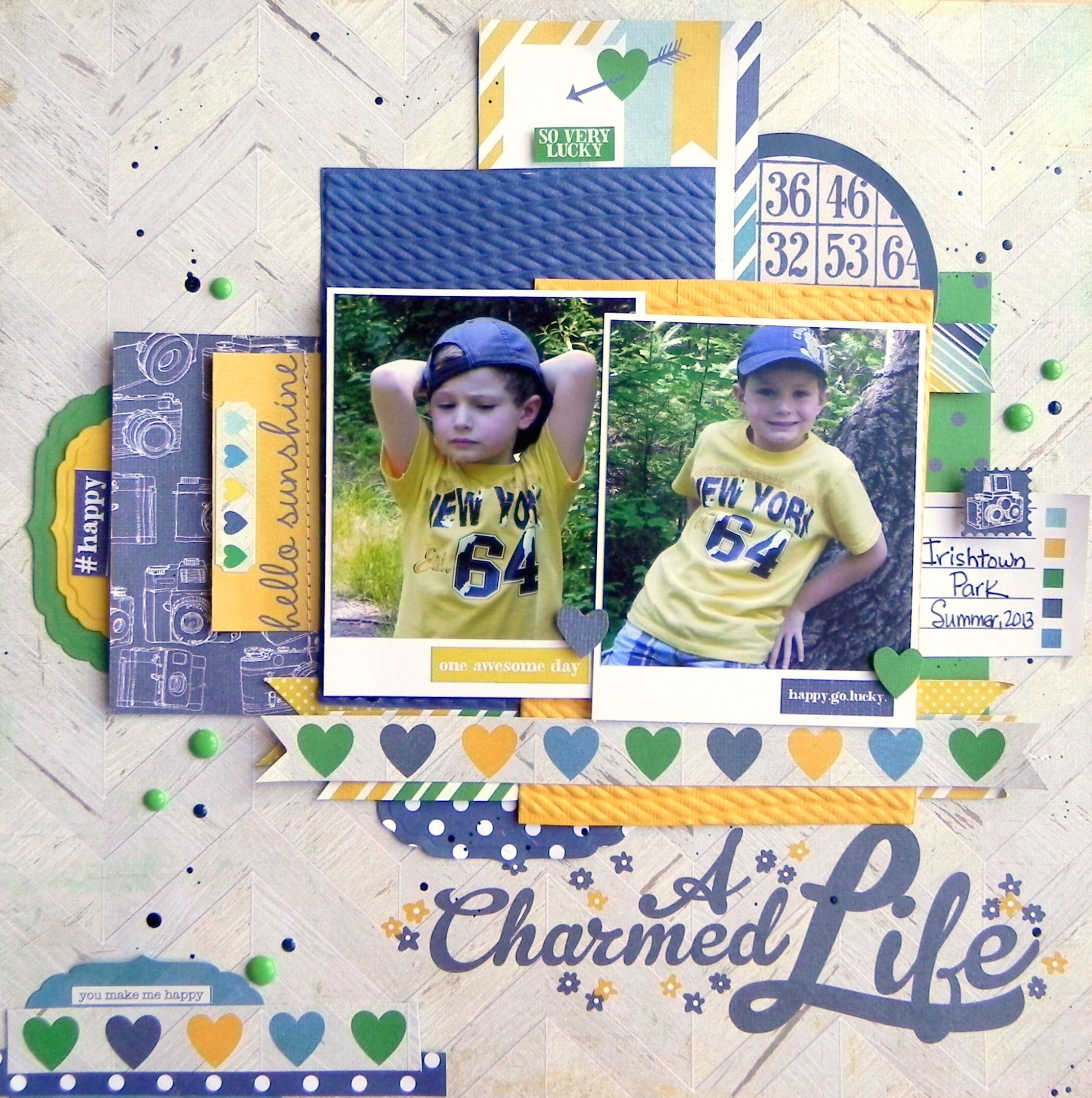 A Charmed Life - Scrapbook.com - Made with Simple Stories A Charmed Life Collection