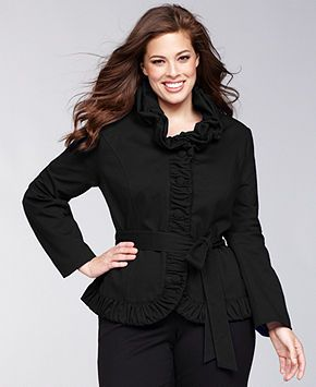 INC International Concepts Plus Size Jacket, Ruffled Ruched Belted - Plus Size Jackets & Blazers - Plus Sizes - Macy's