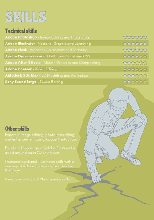 Great Resume Designs that Catch Attention and Got People Hired - resume other skills