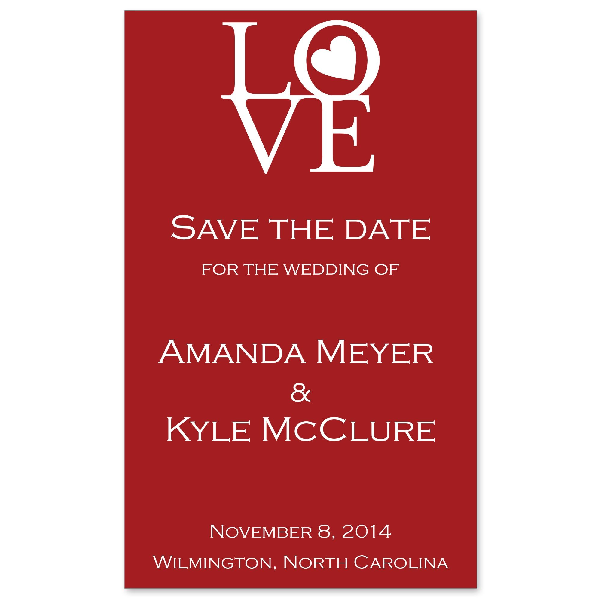 Circle of Love Save the Date Magnet | #exclusivelyweddings | Wedding ...