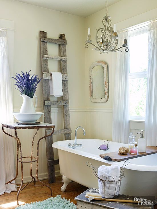 Bathrooms with Vintage Style  Rustic Chic BathroomsRustic Bathroom DecorRomantic   Bathrooms with Vintage Style   Vintage style  Towels and Bathroom  . Rustic Chic Bathroom Ideas. Home Design Ideas