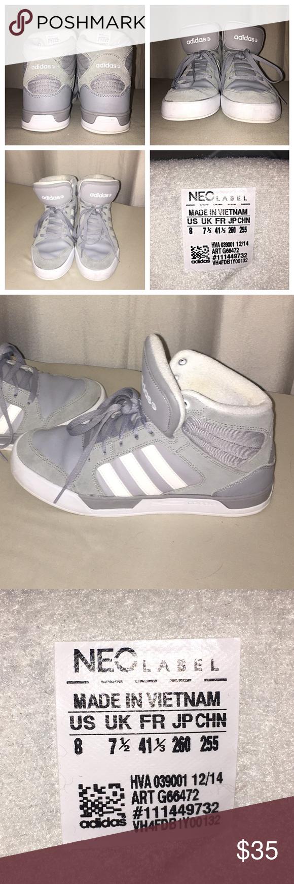 Adidas neo GRIS Suede hightops Adidas, Sole y Adidas zapatos