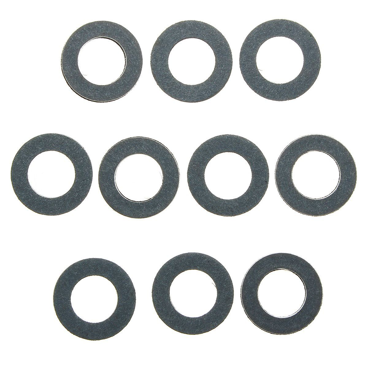 Set Of 10 Engine Oil Drain Plug Seal Gasket Rings Washer 90430 12031 For Toyota Drain Plugs Plugs Washer