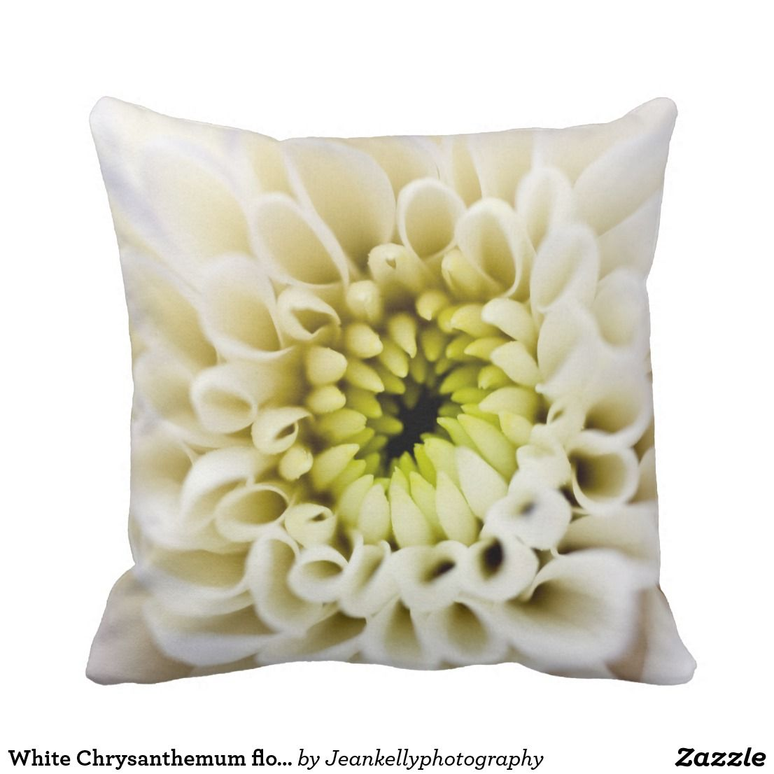 White Chrysanthemum flower Cushion in Home accessories