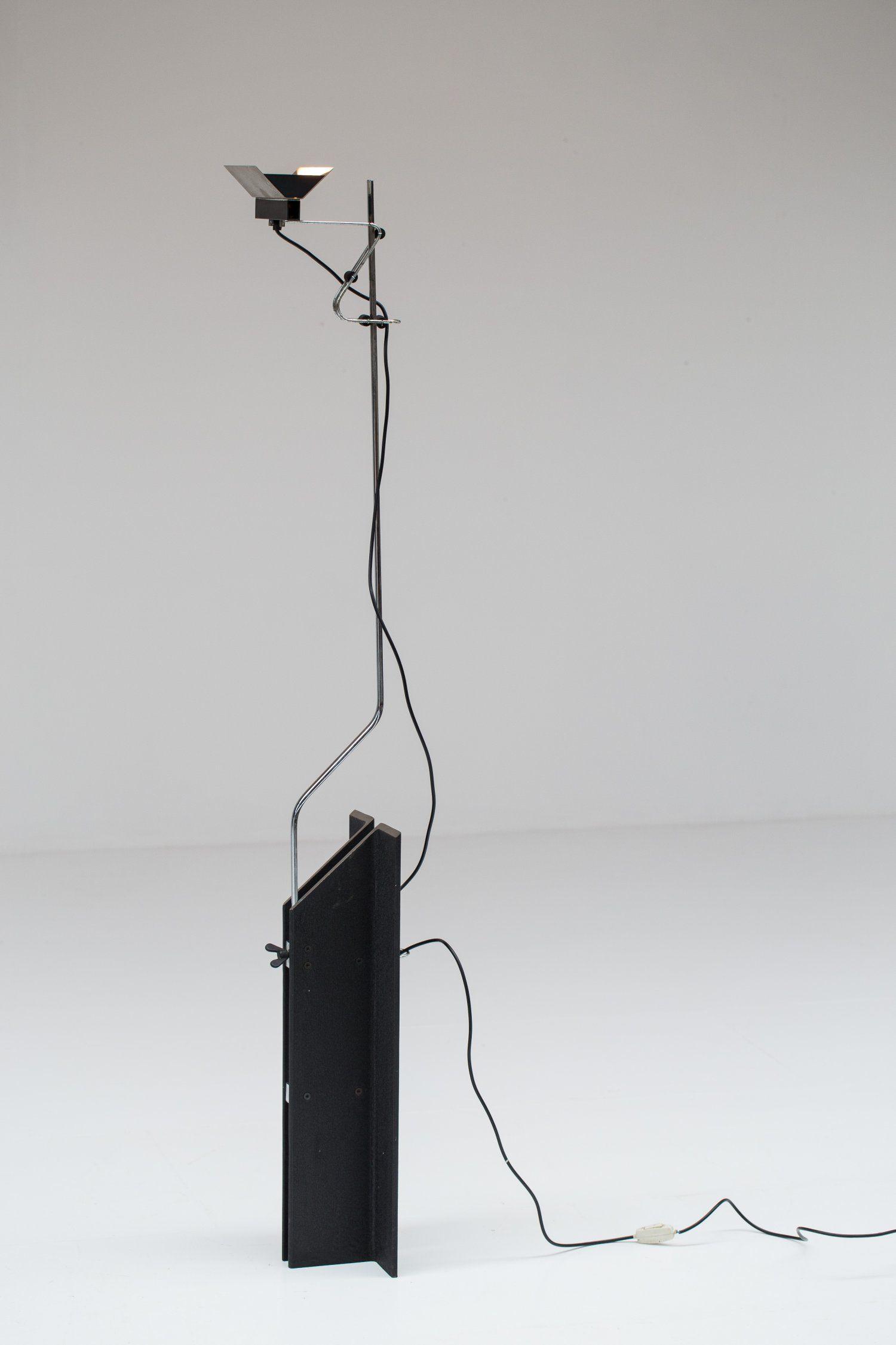 hight resolution of rare floor lamp design ennio chiggio 1968