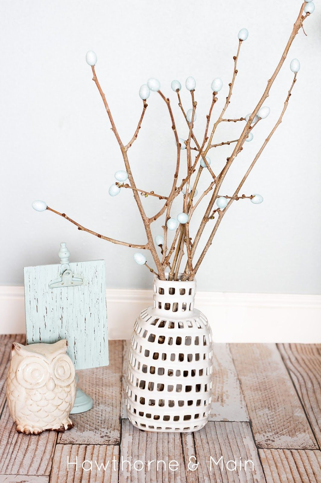 Check out how simple this DIY spring buds vase filler is to make!!