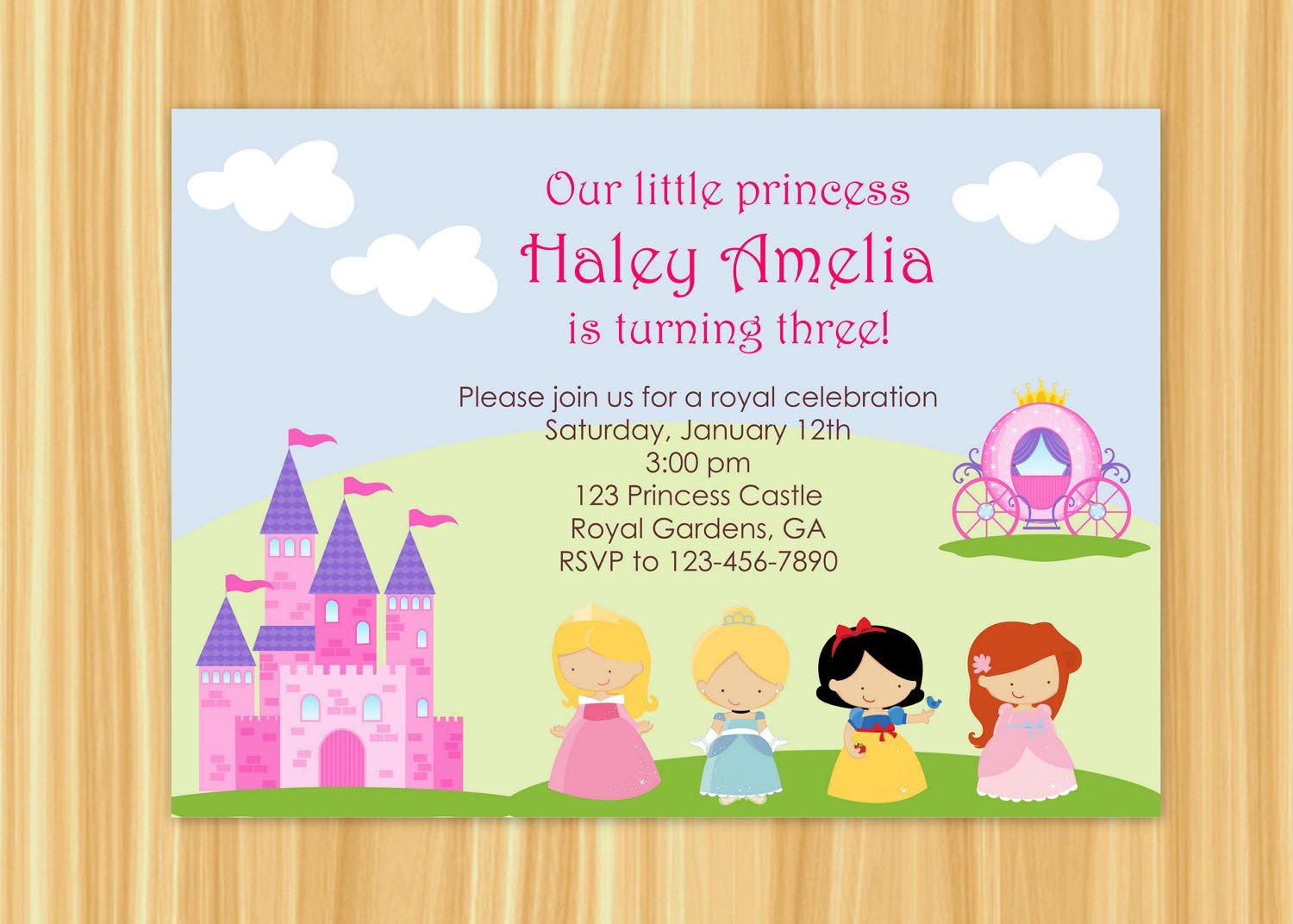 Princess Party Invitations Wording | Princess Party | Pinterest ...