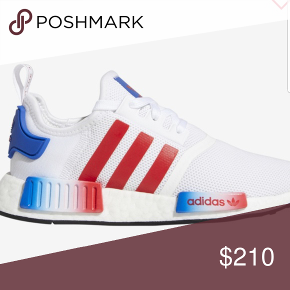 best sneakers 59aa1 5768b Red white and blue nmds Brand new adidas Shoes Sneakers | My ...