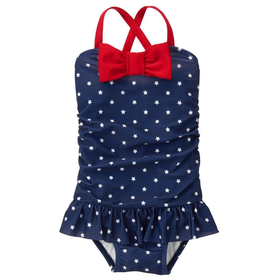 Gymboree Girls Swim 1-Piece Peacock Swimsuit 2T UPF 50+