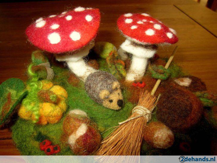 herfst,naaldvilt,wol,vilt,Antroposofisch,Atelier Viltplezier