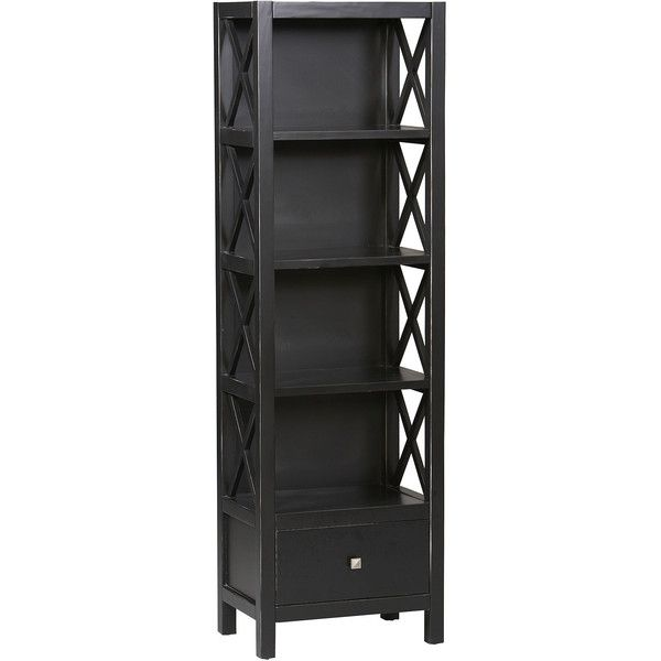 bookcases open pin narrow modern media tower handmade wood tall storage bookcase cabinet