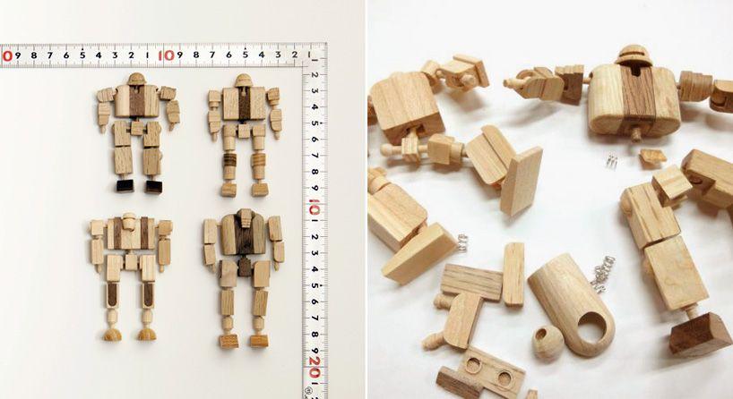 """Um projeto paralelo do estúdio Noah's, do Japão, chamado """"mokuseiderz"""", nada mais é que figuras de guerreiros feitos de baquetas quebradas."""