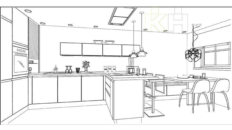 Resultado de imagen para cocina moderna plano cosinas for Planos de cocinas modernas