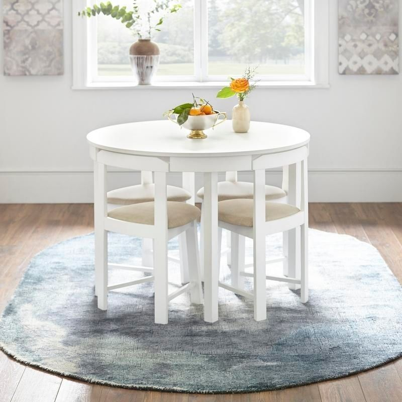Best Deals On Dining Room Sets: Harrisburg 5-piece Tobey Compact Round Dining Set In 2019