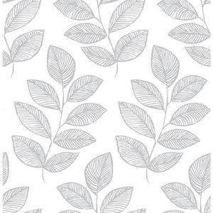Scott Living 30.75sq ft Grey Vinyl Ivy/Vines Wallpaper at