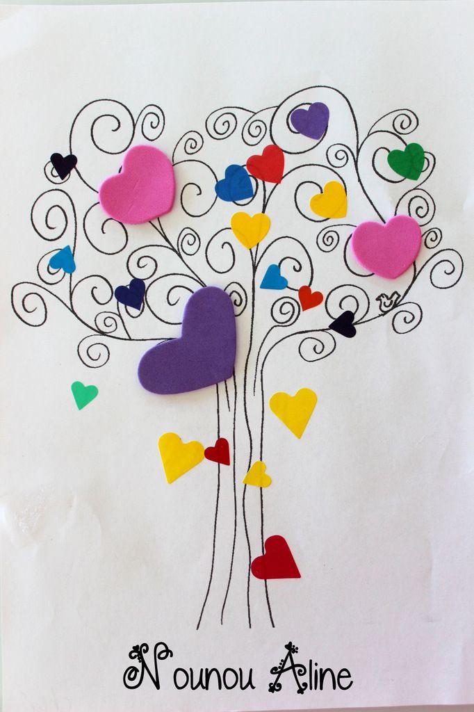 arbre de st valentin coeurs pinterest saints bricolage and craft. Black Bedroom Furniture Sets. Home Design Ideas