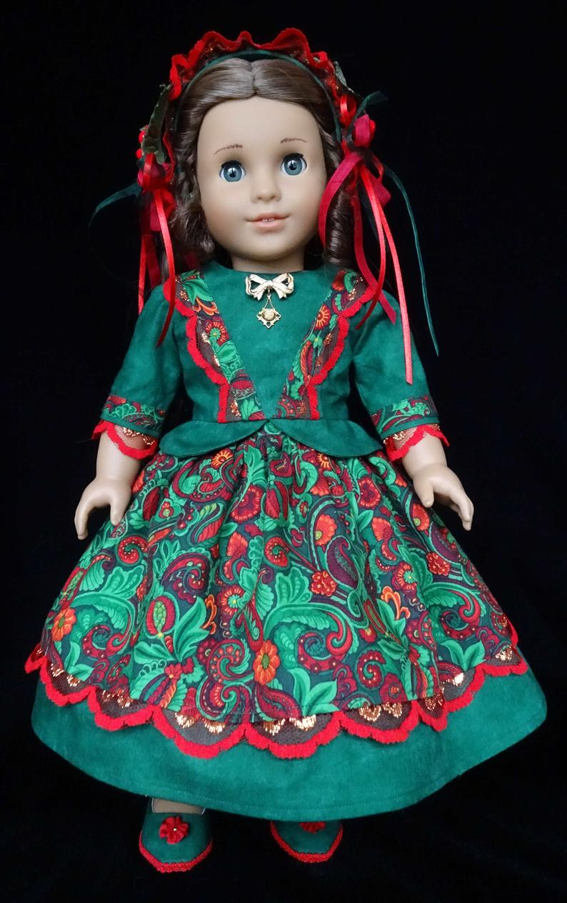Christmas Belle 18 American Girl Doll Clothes for Cecile
