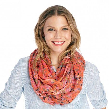dot print infinity scarf