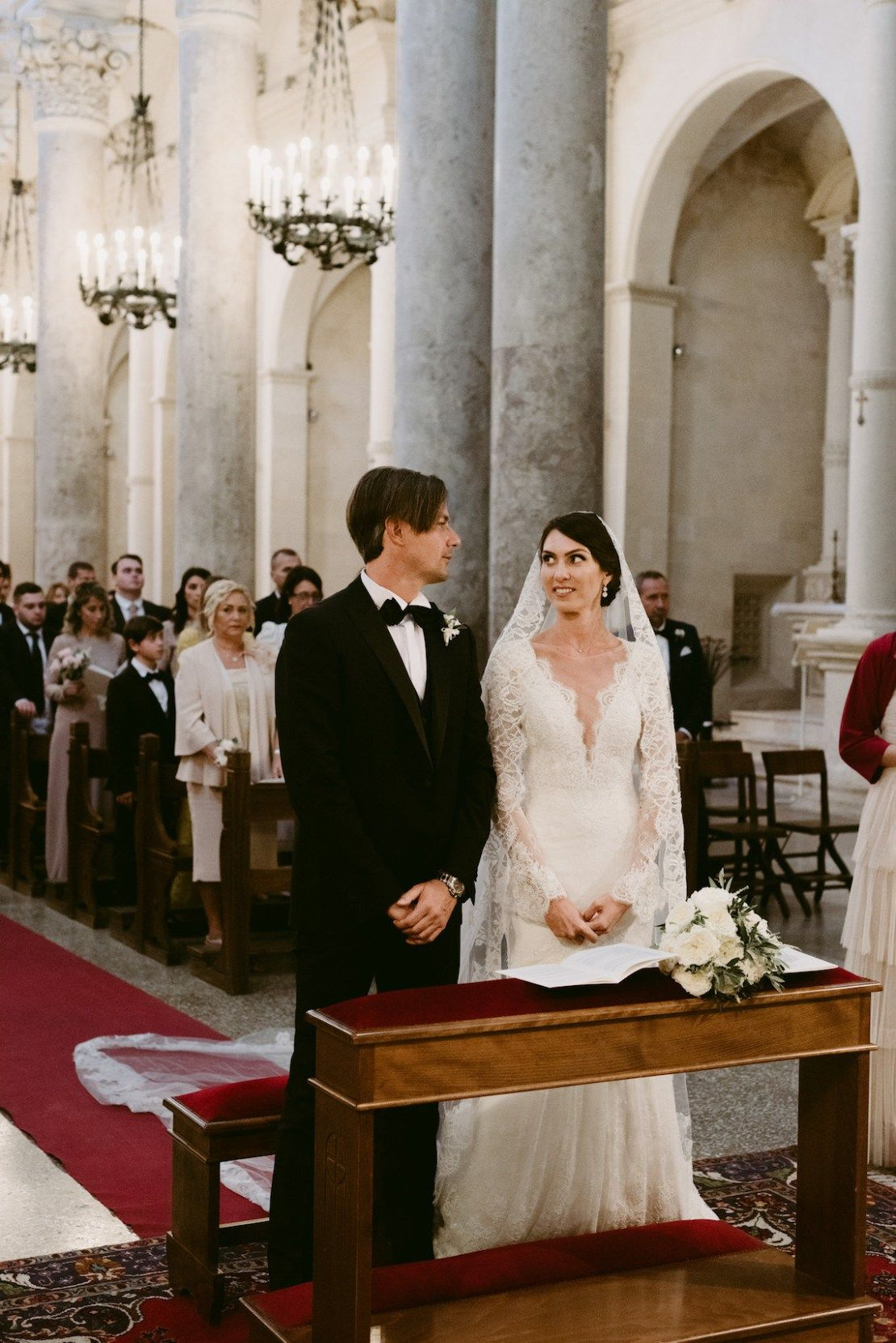 This luxurious cathedral wedding will make you dream of