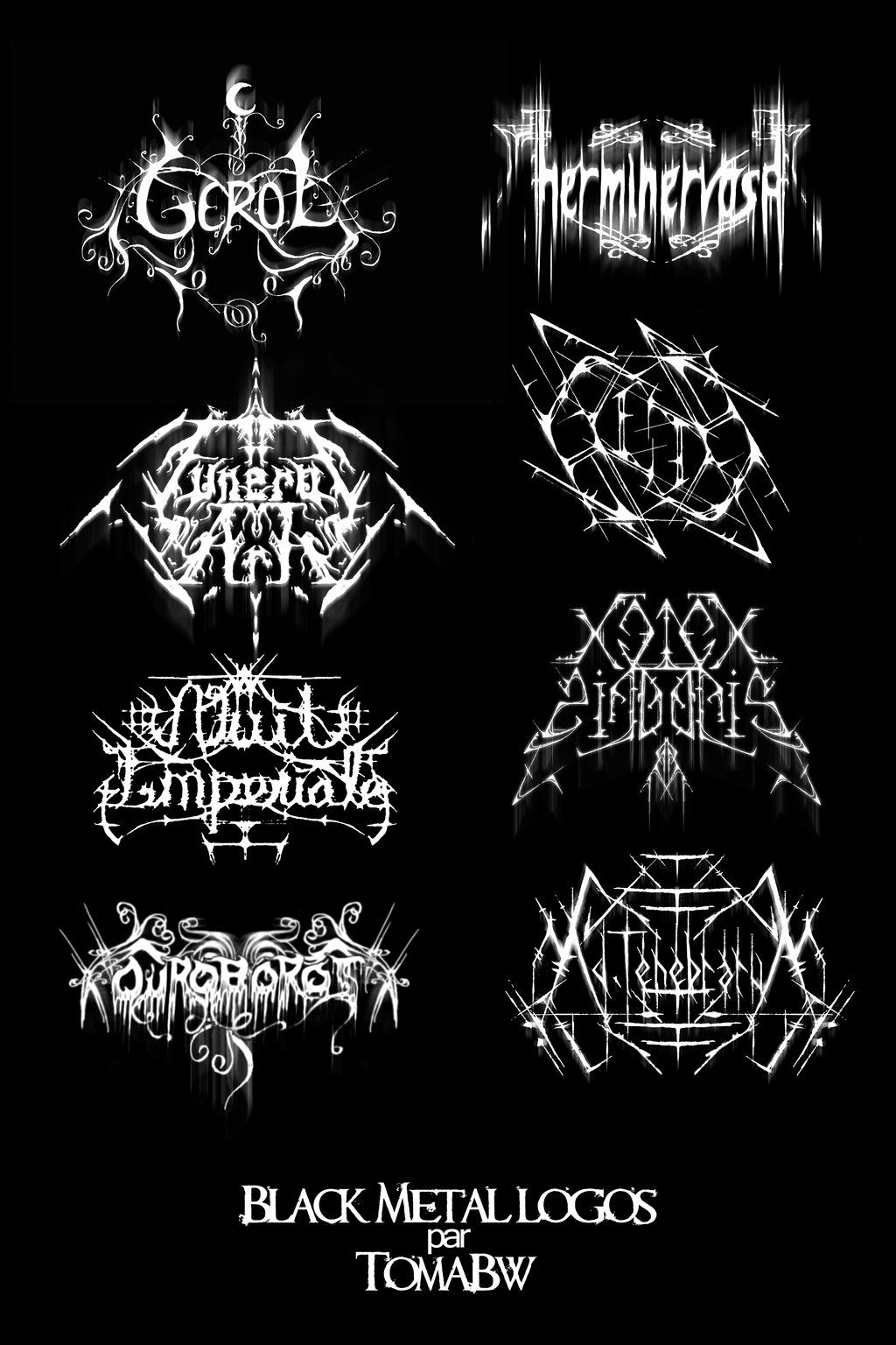 black metal logos by tomabw on deviantart