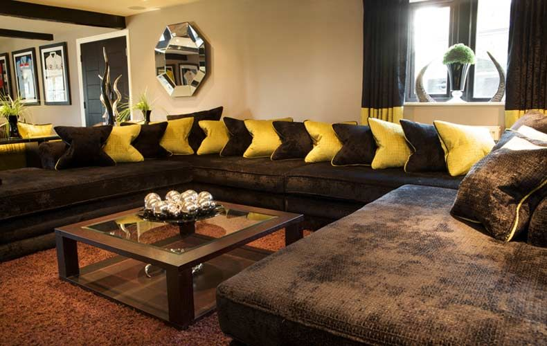 Living Room Design Ideas Brown Sofa dark furniture living room ideas. small living room with offwhite