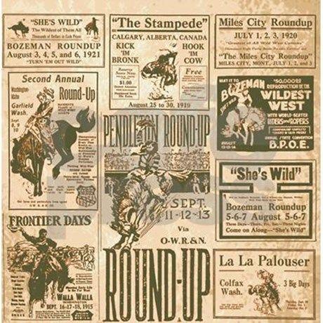 Etonnant Vintage Rodeo Round Up Shower Curtain By Retroranger