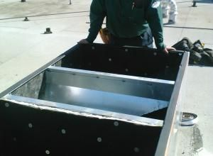 Installing The Adapter Curb These Can Be Customized For Any Existing Roof Curb Of An Original Roof Top Hvac Unit To Transiti Roof Curb Hvac Unit Luxury Design