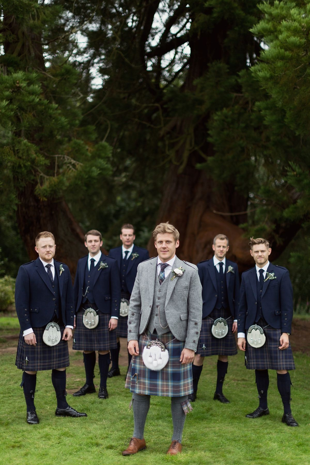 4b3c686ad190 An Elegantly Beautiful Scottish Wedding Inspired by Nature | Groom ...