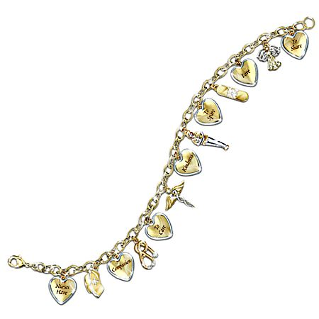 Nurse S Swarovski Crystals Charm Bracelet A Heart