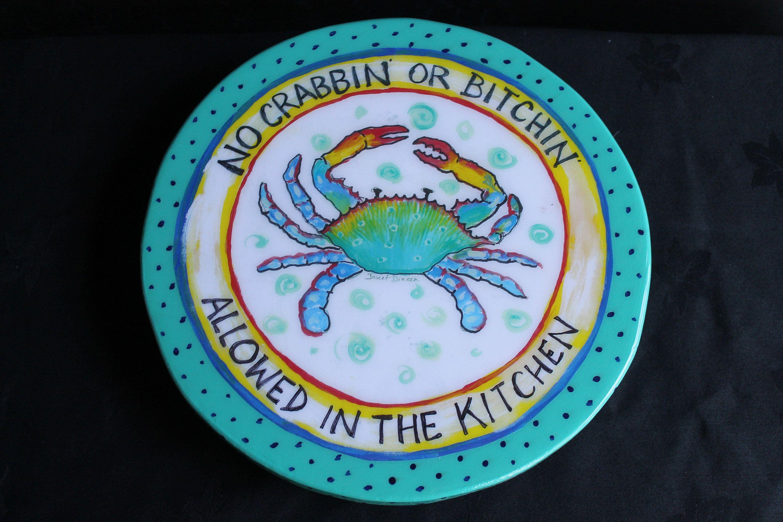 Lazy Susan, Blue Crab, Kitchen Humor, Gift for Mom, Coastal Kitchen ...