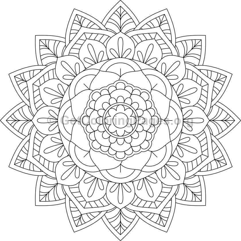 Flower Mandala Coloring Pages 25