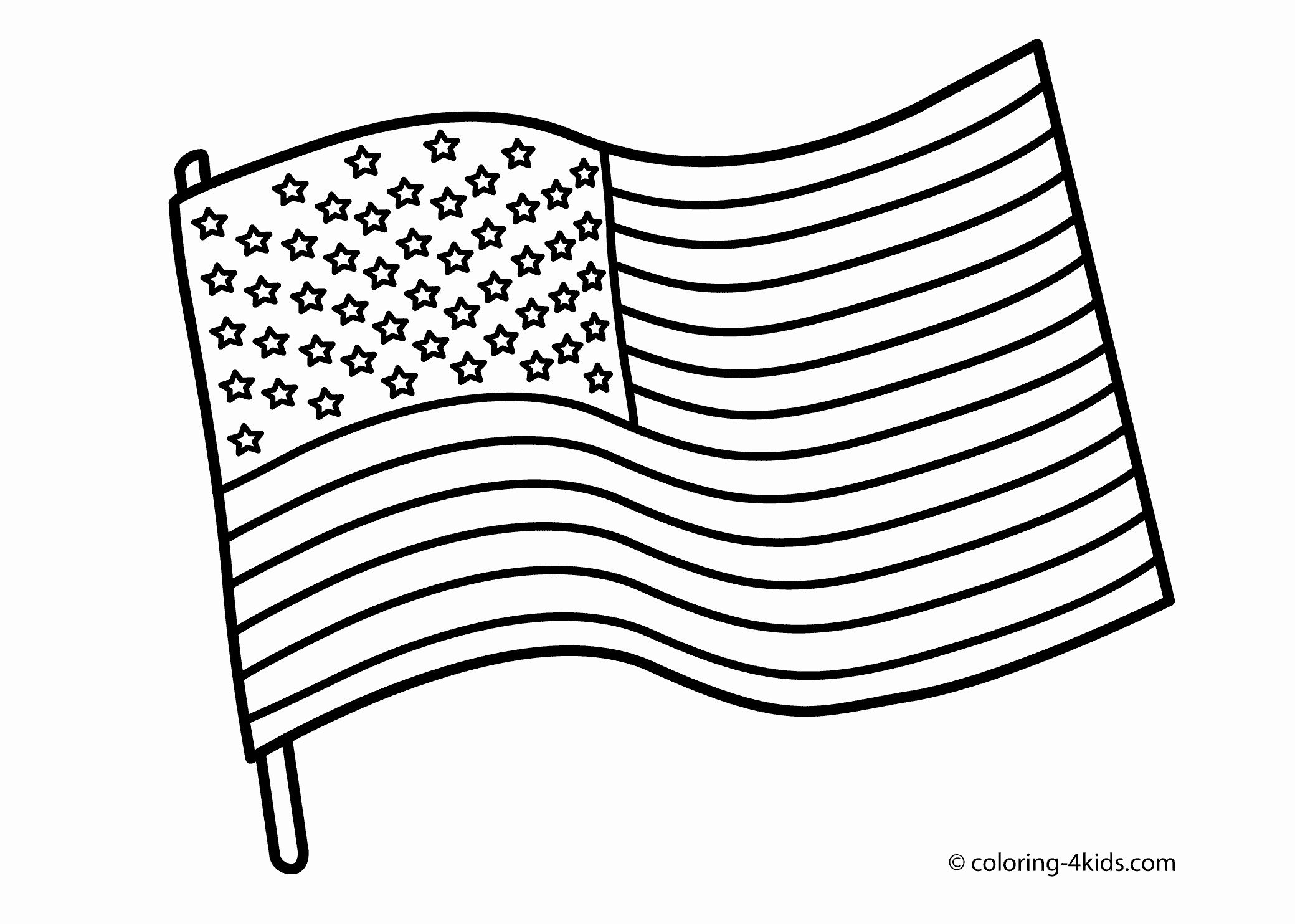 13 Star Flag Coloring Page Awesome Black And White