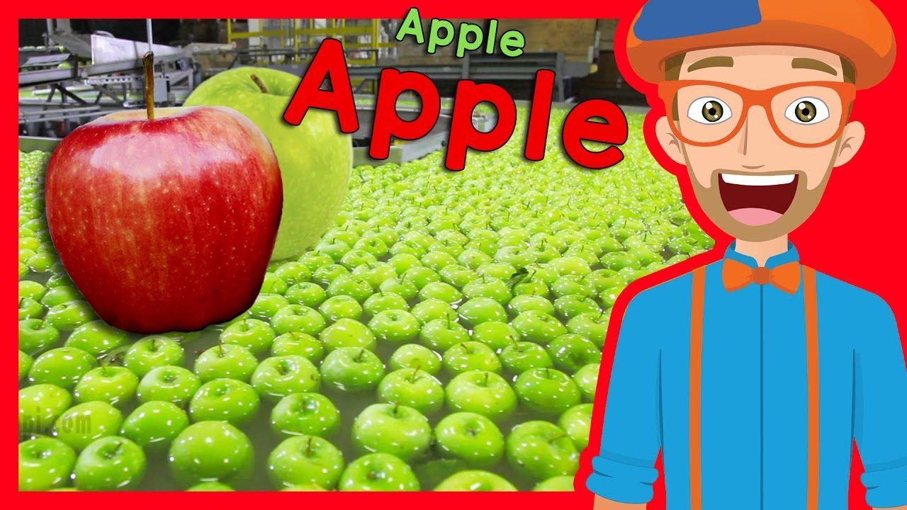 bilppi Fruit for Kids with Blippi Apple Fruit Factory