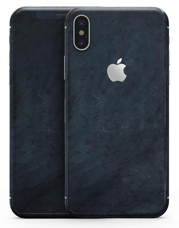 Midnight Navy Grunge Surface - iPhone X Skin-Kit  7129ab733e