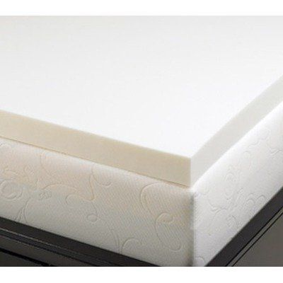deluxe comfort 2inch memory foam mattress topper full by