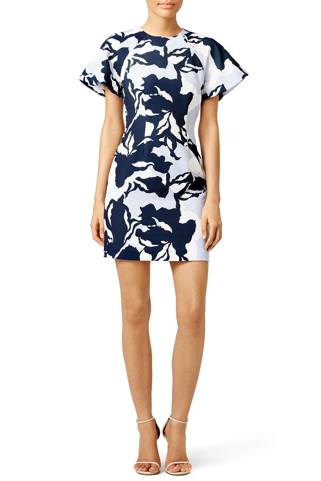 Navy Camouflage Wasting Time Dress By Keepsake For 30