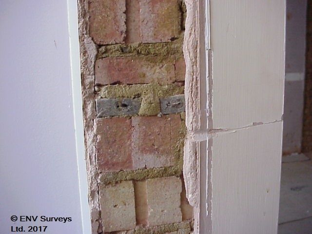 Asbestos Insulating Board Fixing Point For Door Architrave Identified Once Architrave Removed Architrave Ladder Decor Asbestos