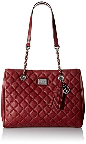 Calvin Klein Quilted Pebble Leather Tote Bag Red Delicious One Size Read More At The Image Link