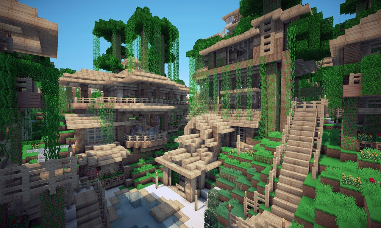 Uncategorized Houses In The Jungle other houses in jungle town minecraft pinterest town