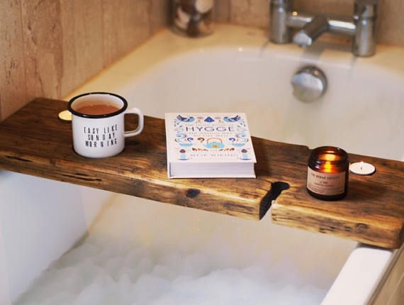 Bath Wine Holder - Bath Caddy - Bath Board - Book Holder - Bath Mug ...